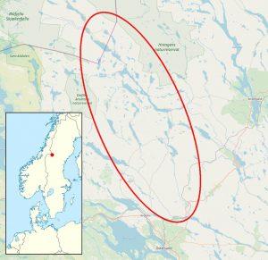 We maken een lange kanotrektocht over de Harkan van Noorwegen naar Zweden